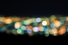 Abstract of Blurred city lights Stock Images
