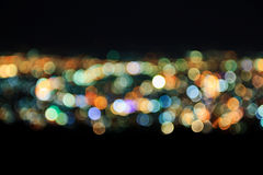 Abstract of Blurred city lights Stock Photo