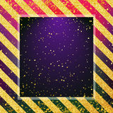 Abstract blurred colorful backdrop with gold dust. Golden stripes on background. Royalty Free Stock Photo