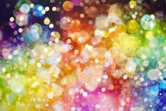 Abstract blurred colorful bokeh background. Light color bokeh vector illustration