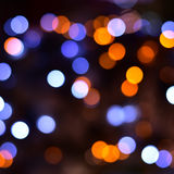 Abstract blurred colorful bokeh lights  background Stock Images
