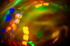 Abstract blurred colorful christmas bokeh heart background. Abstract blurred colorful christmas bokeh background heart shape. Toned, style photo stock images