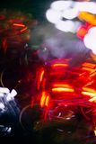 Abstract blurred colorful christmas bokeh heart background. Abstract blurred colorful christmas bokeh background heart shape. Toned, style photo stock photos