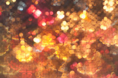 Abstract blurred of colorful lights in bokeh Christmas background disco Royalty Free Stock Photography