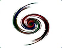 Abstract blurred red dark colors and background. Lines in motion. Abstract blurred colors and lines in motion, red dark, green hues. Creative curves and shining Royalty Free Stock Images