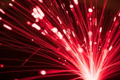 Abstract blurred fiber optic line light for network or technolog Royalty Free Stock Photo