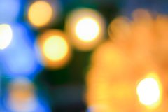 Abstract blurred golden bokeh Royalty Free Stock Images