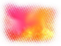Abstract blurred halftone background in pink and yellow Royalty Free Stock Photos