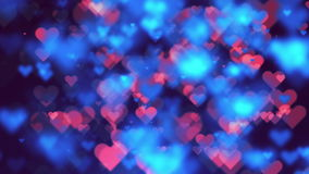 Abstract Blurred Hearts Loop Animation Background stock video footage