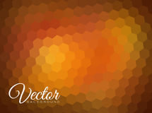 Abstract blurred  hexagonal background Stock Photography