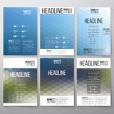 Abstract blurred hexagonal backgrounds. Brochure. Flyer or report for business, templates vector Stock Images