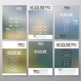 Abstract blurred hexagonal backgrounds. Brochure Stock Photos