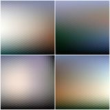 Abstract blurred hexagonal backgrounds set Royalty Free Stock Photo