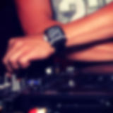 Abstract blurred image of dj as a background Stock Images