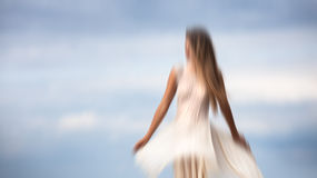 Abstract blurred image of a girl Royalty Free Stock Image