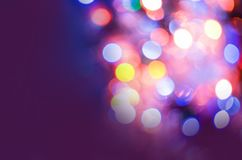Abstract blurred light background. Abstract blur bokeh light. Blur background image. Purple background Stock Illustration
