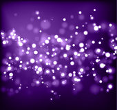 Abstract blurred light background. Abstract black background wiht violet  spotlight Stock Images