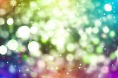 Colorful circles of light abstract background. Abstract blurred light background layout design can be use for background concept or festival background Royalty Free Stock Photography