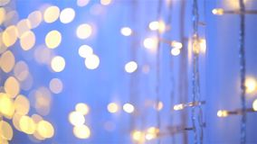 Abstract blurred light bokeh striped of purple backdrop, Dolly slide shot stock video footage