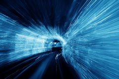Abstract blurred light tunnel Royalty Free Stock Photo