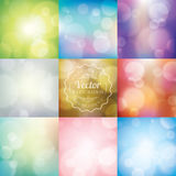 Abstract blurred lights bokeh background. Abstract blurred lights bokeh vector background Royalty Free Stock Image