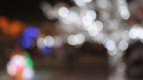 Abstract blurred lights by Christmas stock footage
