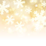 Abstract blurred lights and snowflakes background with space for Stock Photography