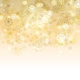 Abstract blurred lights and snowflakes background with space for Royalty Free Stock Photos