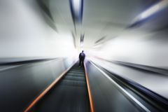 Abstract blurred motion interior Stock Photography