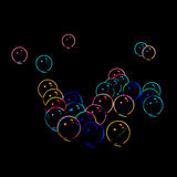 Abstract blurred neon bubbles Royalty Free Stock Photos