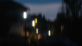 Abstract blurred  night city landscape Royalty Free Stock Photography