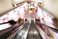 Abstract blurred people in train station Stock Images