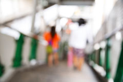 Abstract blurred people in train station Royalty Free Stock Photography