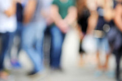 Abstract blurred people. Walking or standing Royalty Free Stock Photos