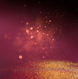Abstract blurred photo of bokeh light burst and textures Royalty Free Stock Photography
