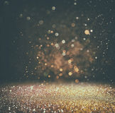 Abstract blurred photo of bokeh light burst and textures. Stock Images