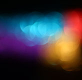 Abstract blurred photo of bokeh light burst and textures. multicolored light. Royalty Free Stock Image