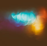 Abstract blurred photo of bokeh light burst and textures. multicolored light. Stock Photo