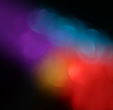 Abstract blurred photo of bokeh light burst and textures. multicolored light. Royalty Free Stock Photography