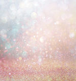 Abstract blurred photo of bokeh light burst and textures. multicolored light. Stock Photos