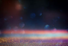 Abstract blurred photo of bokeh light burst and textures. multicolored light. Stock Photography