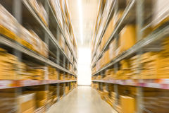 Abstract blurred photo of store in department store, Empty supermarket aisle Royalty Free Stock Photography
