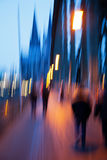 Abstract blurred picture of Cologne Royalty Free Stock Photos