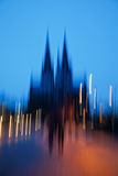 Abstract blurred picture of the Cologne Cathedral Royalty Free Stock Images