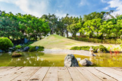 Abstract blurred Pond and Water Landscape Stock Photos