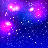 Abstract blurred purple background with bright lights Royalty Free Stock Photo