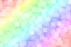 Abstract blurred rainbow square bokeh background . Royalty Free Stock Photo
