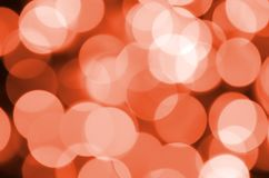 Abstract blurred of red glittering shine bulbs lights background. Blur of Christmas wallpaper decorations concept.  Royalty Free Stock Photography