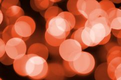 Abstract blurred of red glittering shine bulbs lights background. Blur of Christmas wallpaper decorations concept.  Royalty Free Stock Photos