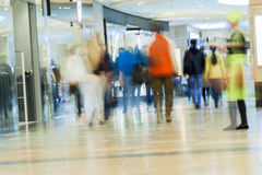 Abstract blurred shopping mall for background Royalty Free Stock Photography